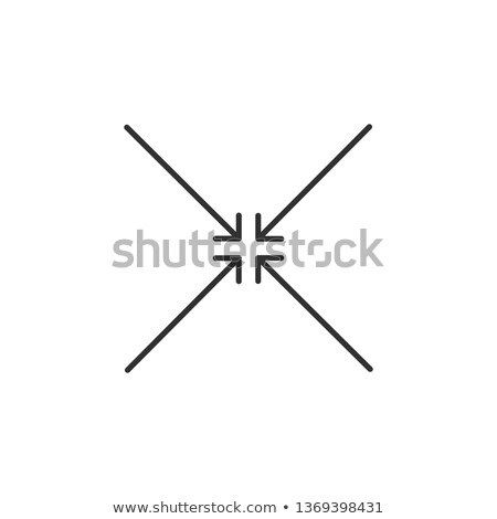 four black squared arrows point to the center. Meeting point. Merge Directions icon. Vector illustra stock photo © kyryloff