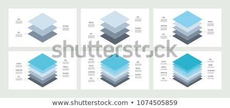 Set of four vector business concept slide designs foto stock © Giraffarte