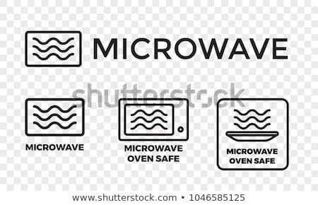 vector set of microwave oven Foto stock © olllikeballoon