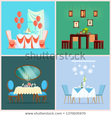 chinese and european restaurant tables interior stock photo © robuart