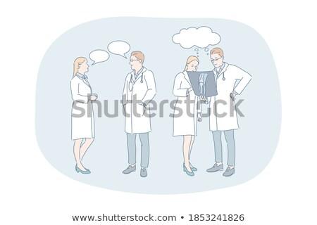 widoku · lekarzy · pacjenta · operacja · lampy · sufit - zdjęcia stock © andreypopov