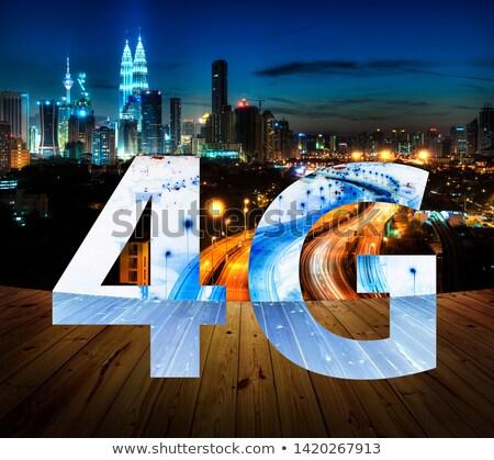 4g szöveg Kuala Lumpur Malajzia üzlet telefon Stock fotó © szefei