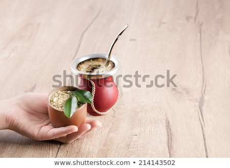 Mate in a traditional calabash gourd Stock photo © grafvision