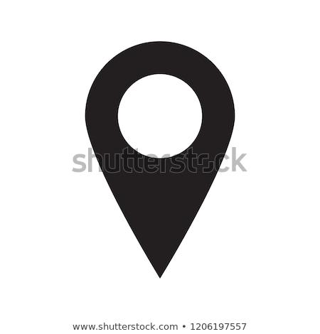карта GPS расположение приложение икона Сток-фото © pikepicture