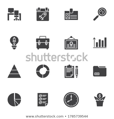 Identificação cartão vetor ícone isolado branco Foto stock © smoki