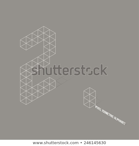 Cube grid Number 2 TWO 3D Stock photo © djmilic