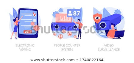 Mensen counter elektronische aantal Stockfoto © RAStudio