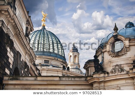 Academy of Fine Arts and Frauenkirche, Dresden Stock photo © borisb17