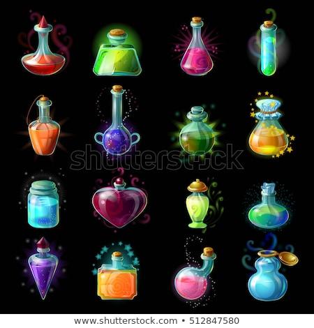 Elixir garrafa cor vetor vidro etiqueta Foto stock © pikepicture