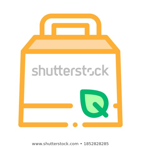 Carton Package With Handle And Plant Leaf Vector Stock photo © pikepicture
