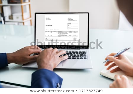 Due fattura ufficio computer Foto d'archivio © AndreyPopov