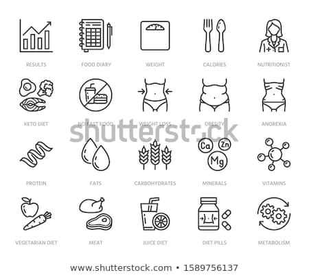 metabolism icon set Stock photo © bspsupanut
