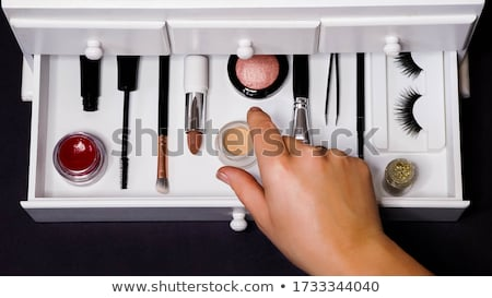 составляют организовать выдвижной ящик иллюстрация рук Сток-фото © lenm