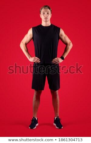 Sport athlètes entraînement déterminé fort bel homme Photo stock © benzoix