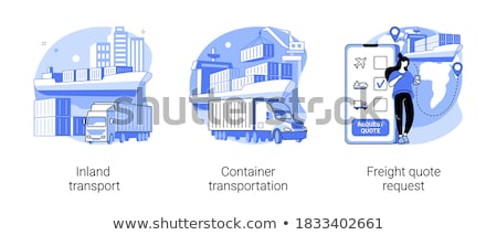 Freight quote request concept vector illustration Stock photo © RAStudio