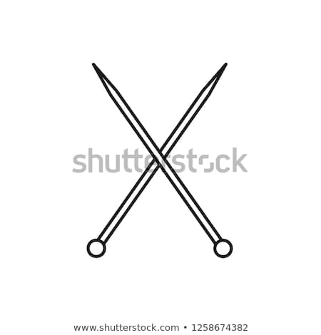 Knitting Needles Icon Vector Outline Illustration Stock photo © pikepicture