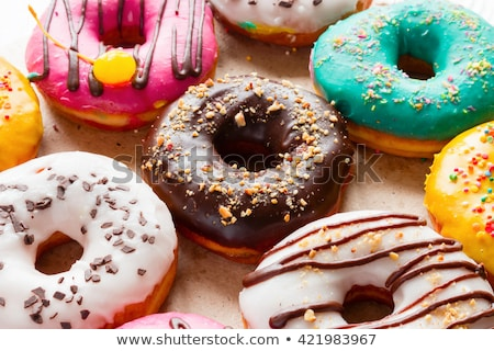 Farklı şekerleme tablo sağlıksız beslenme Stok fotoğraf © dolgachov
