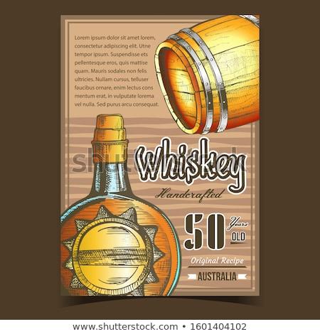 Whiskey pubblicità banner vettore cerchio Foto d'archivio © pikepicture