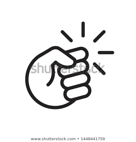 beating man icon vector outline illustration Stock photo © pikepicture