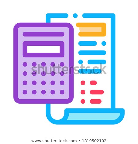 court sentence cache calculation icon vector outline illustration Stock photo © pikepicture