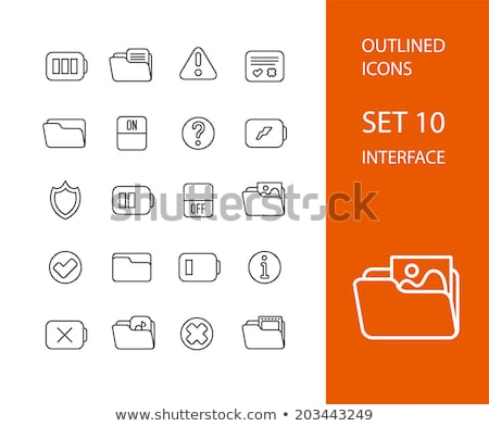 approval of film icon vector outline illustration Stock photo © pikepicture