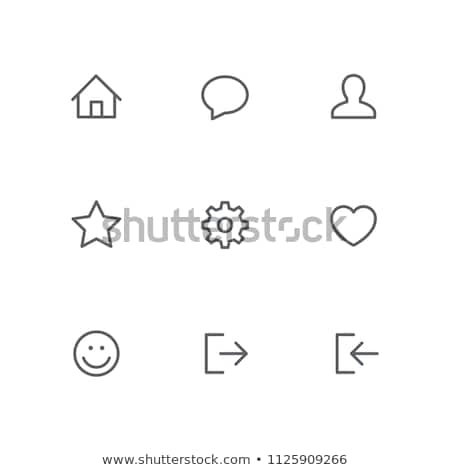 discussion of settings by people icon vector outline illustration Stock photo © pikepicture