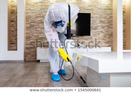 Pest Control Exterminator Spraying Insecticide Stock photo © AndreyPopov