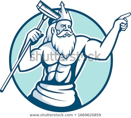 Piscina mascote ícone ilustração Foto stock © patrimonio