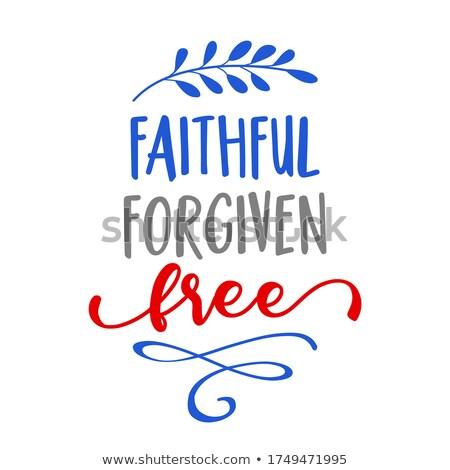 верный свободный день США текста Сток-фото © Zsuskaa