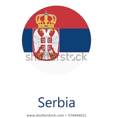 セルビア フラグ 白 塗料 芸術 にログイン ストックフォト © butenkow