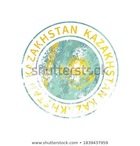 Kazachstan teken vintage grunge vlag Stockfoto © evgeny89