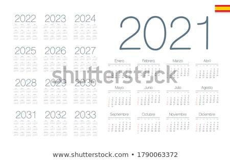 év egyszerű naptár spanyol izolált fehér Stock fotó © evgeny89
