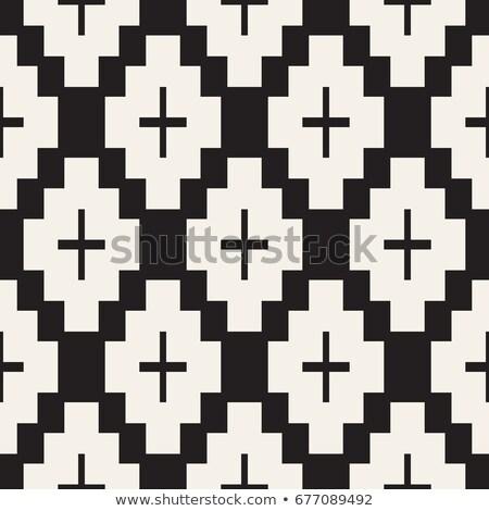 Naadloos patroon symmetrisch meetkundig abstract behang Stockfoto © samolevsky