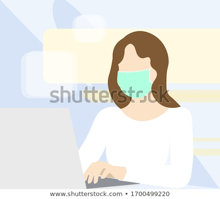 surgical face masks for preventing infection during coronavirus pandemic stock photo © anneleven