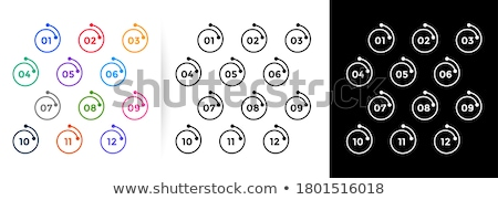 modern geometric bullet points numbers from one to twelve Stock photo © SArts