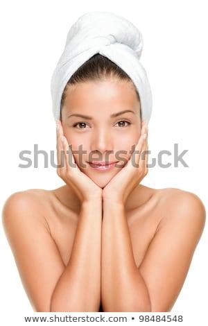 cara · estância · termal · mulher · fundo · beleza - foto stock © stryjek