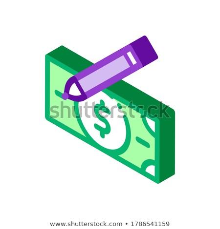 Dibujo falso billetes icono vector Foto stock © pikepicture