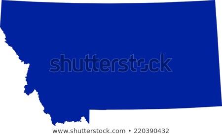 kék · Montana · térkép · absztrakt - stock fotó © lirch