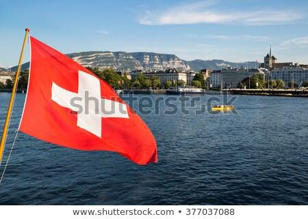 Swiss, Geneva and Europe flags Stock photo © Elenarts