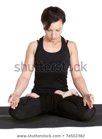 yoga excercising Padmasana Stock photo © zastavkin