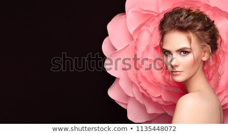 Foto mooie vrouw haren witte vrouw Stockfoto © Elmiko