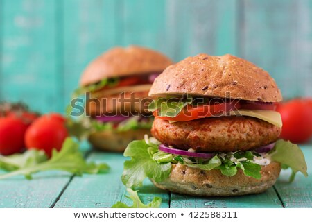 Турция · сэндвич · домашний · хлеб · начинка · клюква - Сток-фото © jamdesign