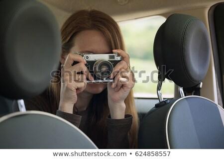 kobieta · zabawki · samochodu · ruchu · osoby - zdjęcia stock © hasloo