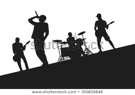 Cantante rock band donna musica microfono ponte Foto d'archivio © photography33
