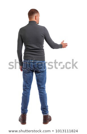 man standing backward and stretching Stock photo © photography33