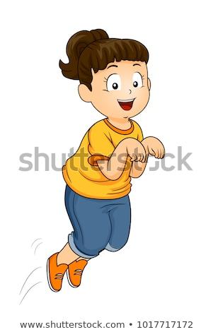 Criança felicidade dançar feliz crianças Foto stock © lovleah