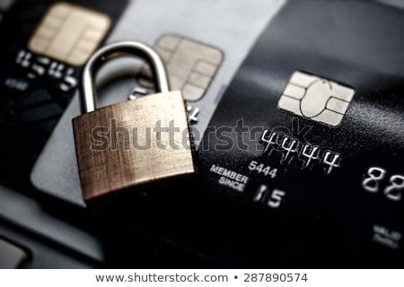 Hitelkártya biztonság lakat Stock fotó © REDPIXEL
