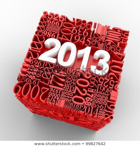 3D 2009 új év buli arany tapéta Stock fotó © ojal