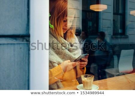 portret · jonge · mooie · vrouw · bar · mooie · jonge · vrouw - stockfoto © adam121