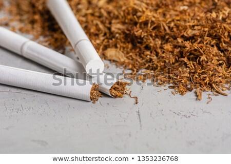 halom · cigaretta · izolált · fehér · stúdió · fotózás - stock fotó © boroda